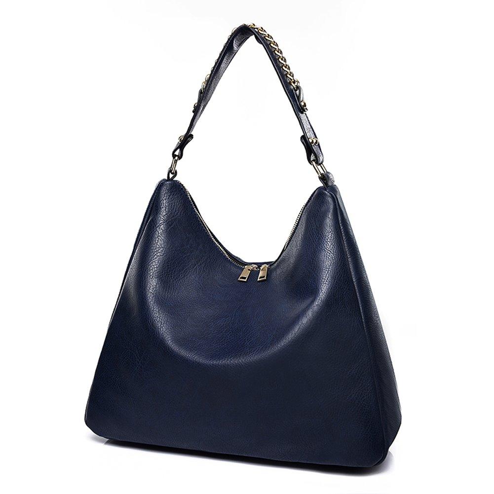 aaab4761da79 Covelin Womens Retro Leather Handbag Hobo Purse Large Capacity Tote  Shoulder Bag