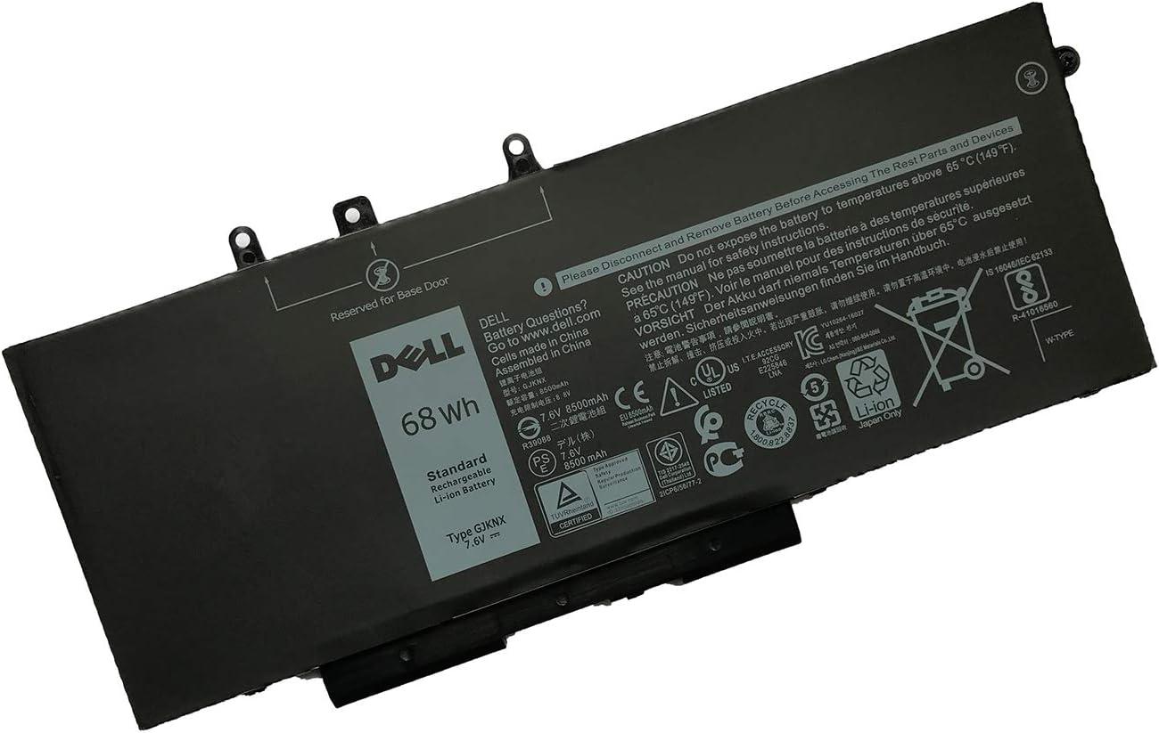 SANISI DELL GJKNX 7.6V 68Wh 4-Cell Notebook Battery for DELL Latitude Latitude 5280 5290 5480 5490 5491 5495 5580 5590 5591, DELL Precision 3520 Precision 3530 Laptop
