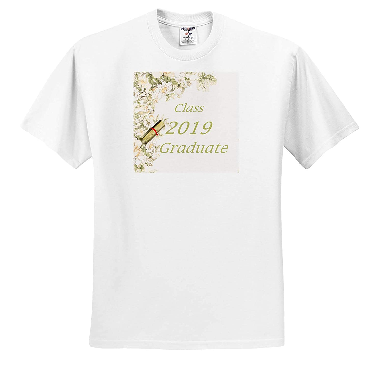 Image of Soft Vintage Olive Green Class 2019 Graduate T-Shirts 3dRose Lens Art by Florene Graduation