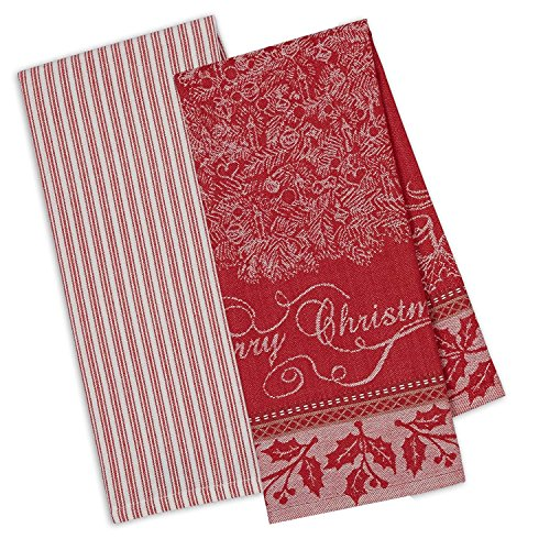 DII Cotton Christmas Holiday Decorative Dish Towels, 18x28
