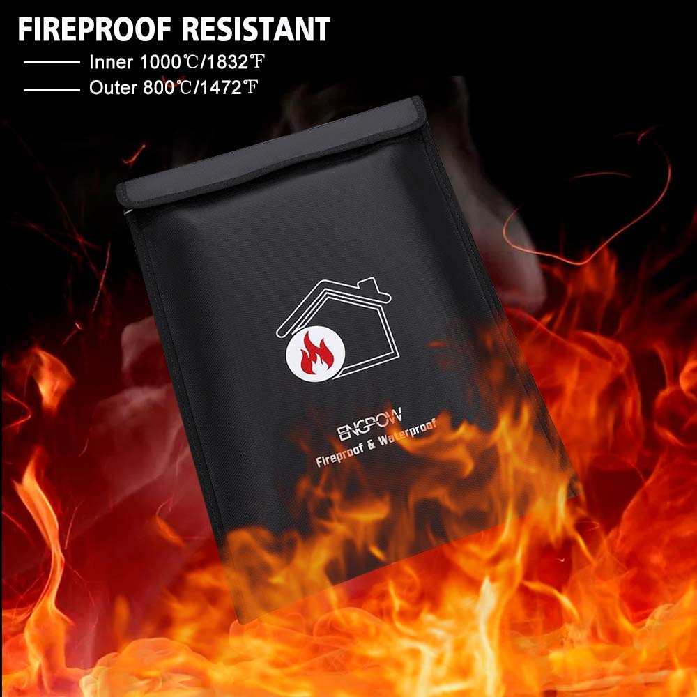 ENGPOW Fireproof Document Bags 15\