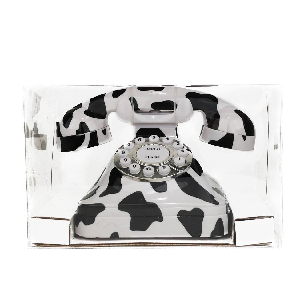 "Telefon /""Lippen Kuhmuster Totenkopf Muster /"" ideal als DEKO oder Geschenk Kabelgebunden viele Modelle Design Schnur 92008-001-000"