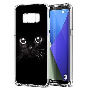 Eouine Funda Samsung Galaxy S8, Cárcasa Silicona 3D Transparente con Dibujos Diseño Suave Gel TPU [Antigolpes] de Protector Bumper Case Cover Fundas ...