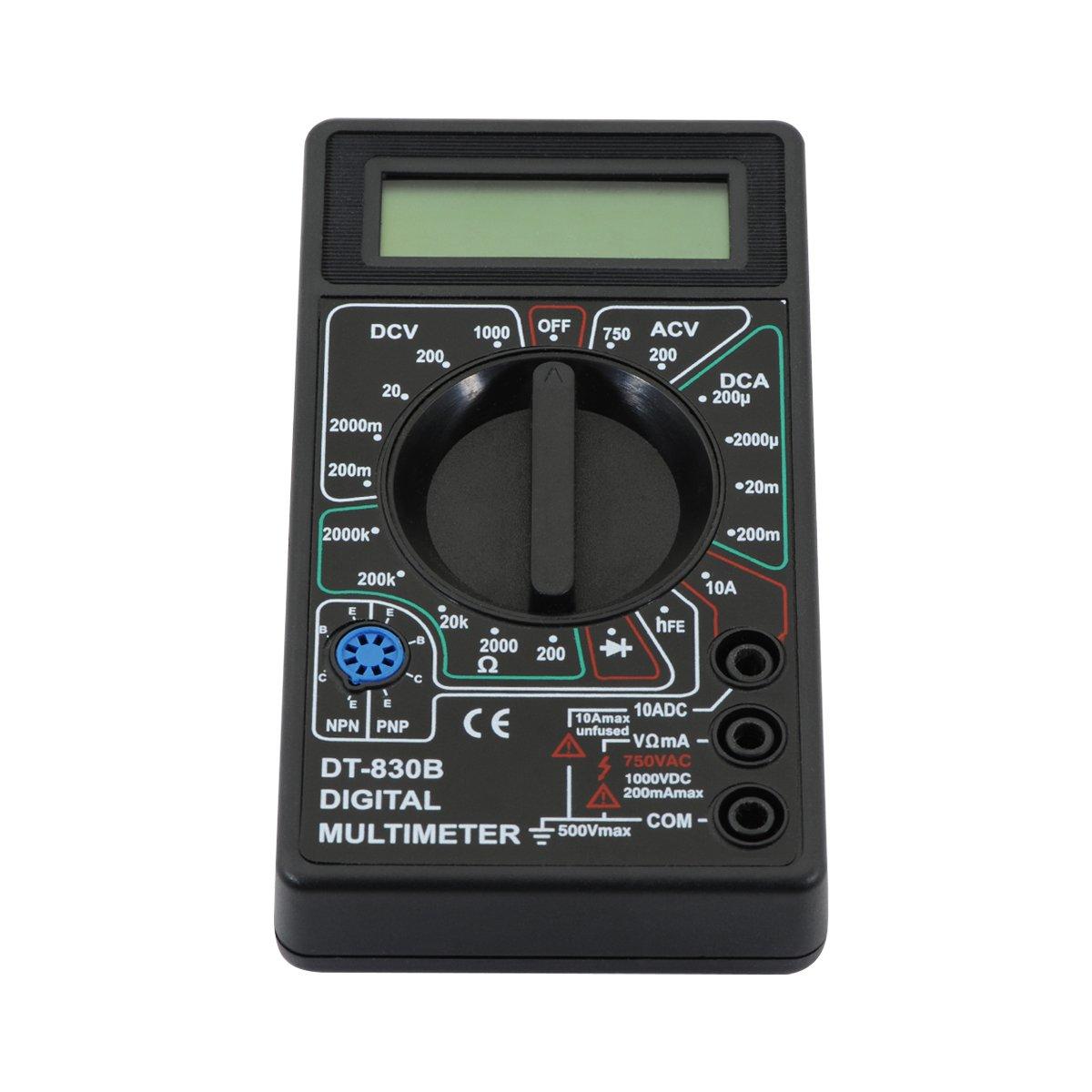 QUMOX LCD multim/ètre num/érique Voltm/ètre Amp/èrem/ètre Circuit testeur Checker