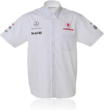 Vodafone McLaren Mercedes Hombre Patrocinadores Team Camisa Blanco, fórmula 1, F1, hombre, Weiß, medium: Amazon.es: Deportes y aire libre