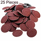 25 Pieces -3 Inch 80 Grit Roll Lock Sanding And Grinding Discs - For Rotary Tools, Die Grinder, Drill, Carpenters, Woodworking- By Katzco