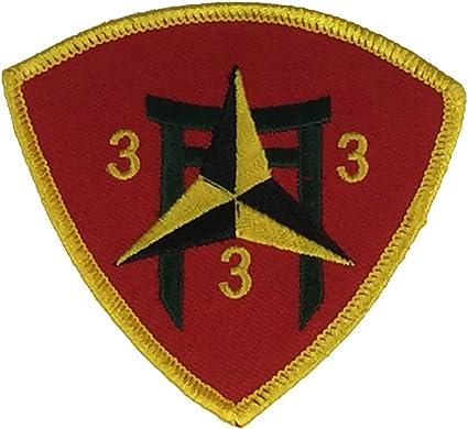 United States US Marines 3rd Marine Division Logo Embroidered Emblem Key Chain