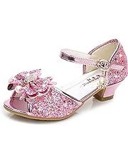 Bumud Girls' Party Dress Pumps Shoes