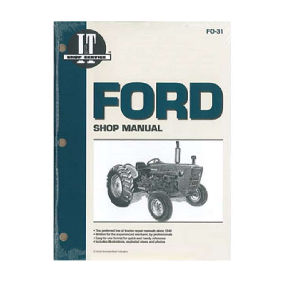 Amazon.com: FO31 New Ford New Holland Tractor Shop Manual 2000 3000 4000:  Industrial & Scientific