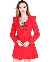 Fashion Women Wool Blends Winter Trench Coat Outerwear