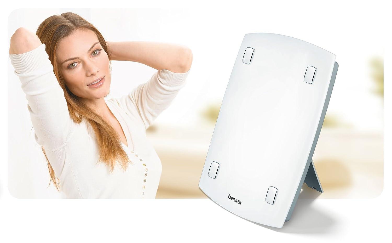 Beurer TL 60 - Lámpara de luz diurna, intensidad de 10.000 lux, color blanco: Amazon.es: Hogar