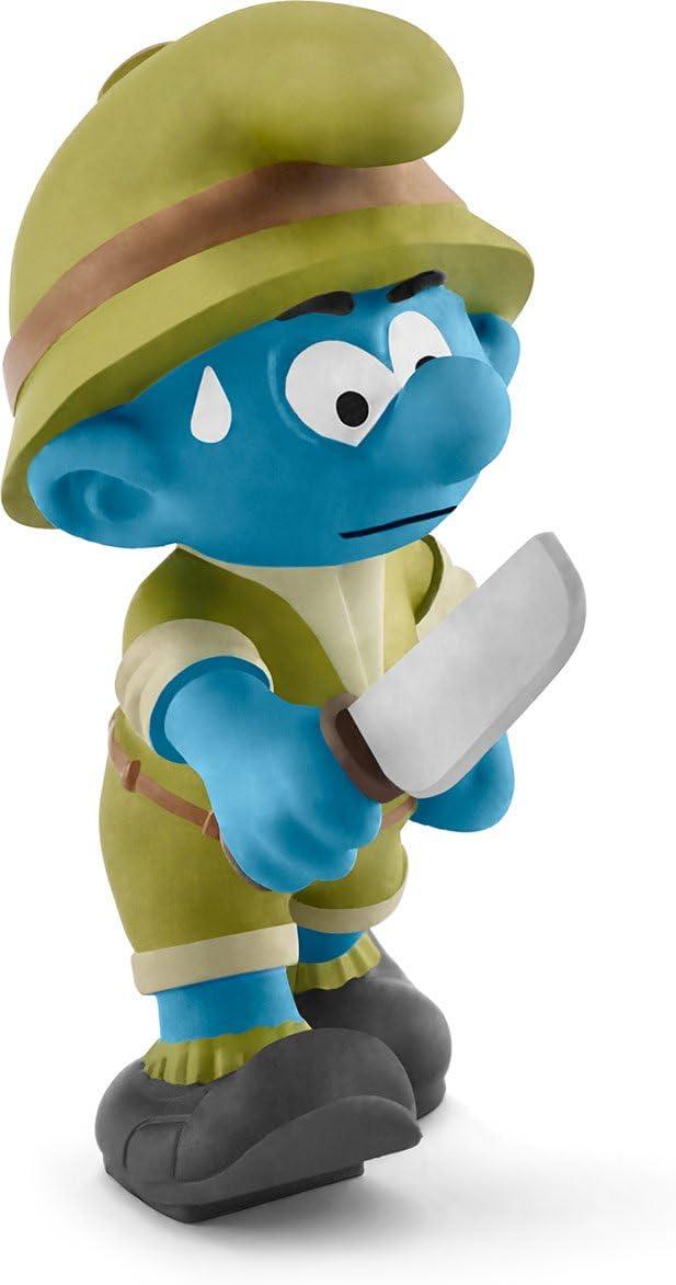 Schleich North America Jungle Smurf Toy Figure, Adventurer