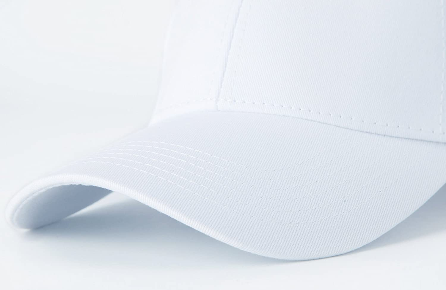 f9572df1fc6 Amazon.com  Edoneery Men Women Cotton Adjustable Washed Twill Low Profile  Plain Baseball Cap Hat(White)  Clothing