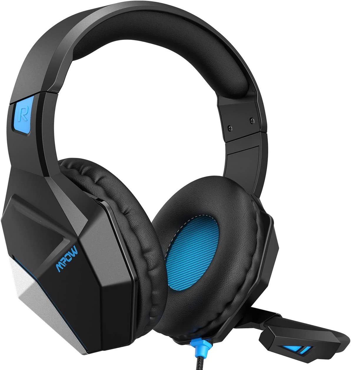 Etc Laptop Compatible with PC Stereo Gaming Headset 3D Surround Sound Comfort Noise Reduction Over Ear Headphones with Mic /& LED Light PS4