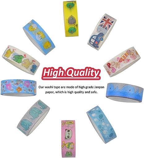 WENTS 20 Rotoli di Nastro Decorativo Washi Tape e 45 Pezzi Adesivi Stickers per Scrapbooking Arte Mestieri Office Party Supplies e confezione regalo