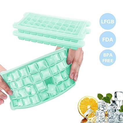 Eiswürfelform,?2 Stück? Pomisty 36-Fach Silikon Eiswuerfel Form Eiswuerfelbehaelter Mit Deckel Ice Tray Ice Cube? LFGB Zertif