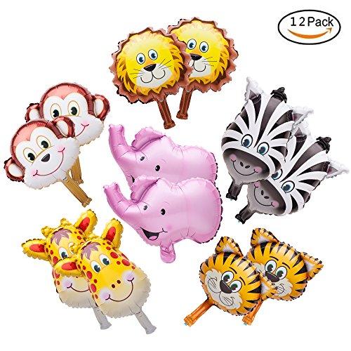 Image Is Loading Mini Animals Balloons Jungle Safari Theme Birthday Party