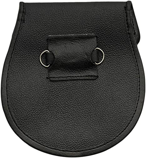 SZCO Supplies Rampant Lion Leather Sporran Black