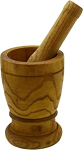 Imusa Mortar with Pestle Kitchen Essentials, Jumbo, Natural