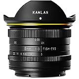 【国内正規品】 KAMLAN 単焦点魚眼レンズ 8mm F3.0 ソニーEマウント用 APS-C対応 フィッシュアイ 国内保証付き KAM0002