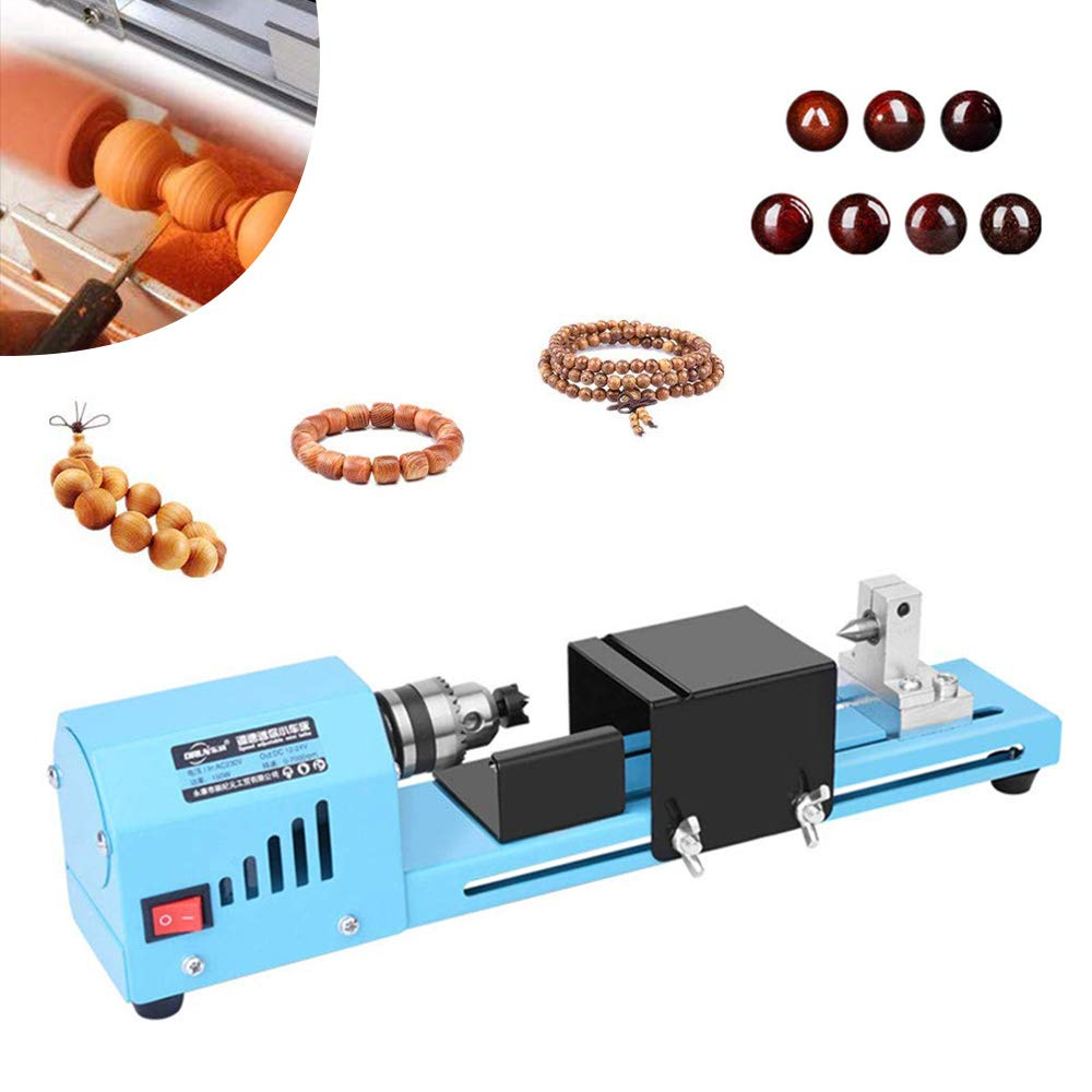 150W DC 12-24V Mini Lathe Beads Machine Woodworking Lathe Beads Polisher Machine Jewelry Beads Polishing Grinding Machine DIY Woodworking Craft Drill Tool for Table Woodworking by epinglu