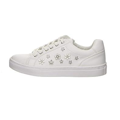 Guess Mujer Zapatillas Blanco; Claro tamaño 38 Blanco (Blanco)