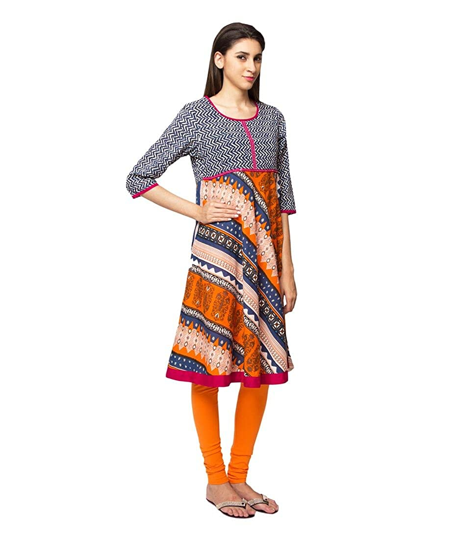 3142654aae7 In-Sattva ethnicity Women's Indian Trendy Multi-Print Kurta Tunic at Amazon  Women's Clothing store: