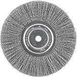 DEWALT DW4907 8 Crimped Bench Wire Wheel, 5/8 Arbor, Wide Face.014