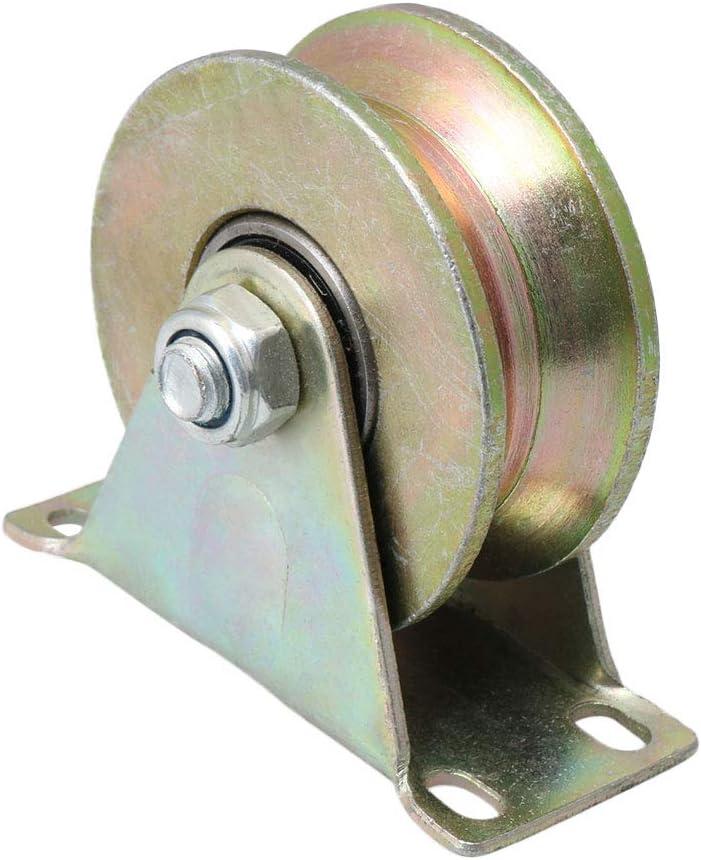 Mxfans - Rueda de rodamiento rígido tipo U de 50 mm de diámetro