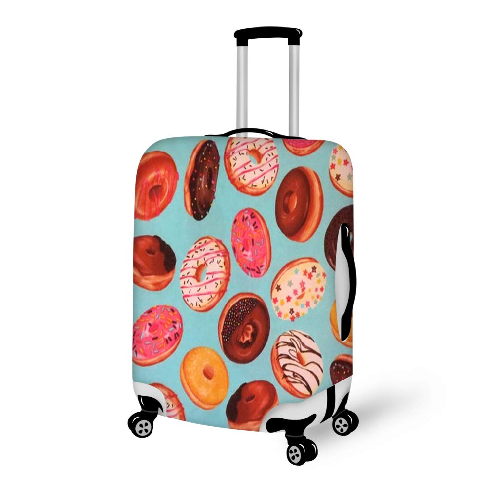 Travel Luggage Cover Suitcase Protector Fits 22-24 inch Luggage Delicious Doughnuts