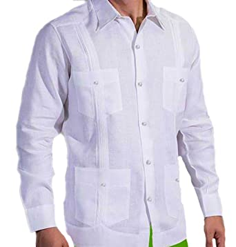 28f281b6482 Party French Cuff Guayabera for Men. Perfect for a Cuban Event. Runs Normal  to Small. at Amazon Men s Clothing store