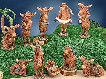 StealStreet SS-UG-PY-3001 Moose Nativity Scene Figurine