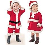 Christmas キッズサンタ ベビーサンタ 子供サンタ コスチューム コスプレ サンタ仮装 女の子 男の子 衣装 子供用 かわいい 赤ちゃん クリスマス 帽子付き (男の子, 80cm)