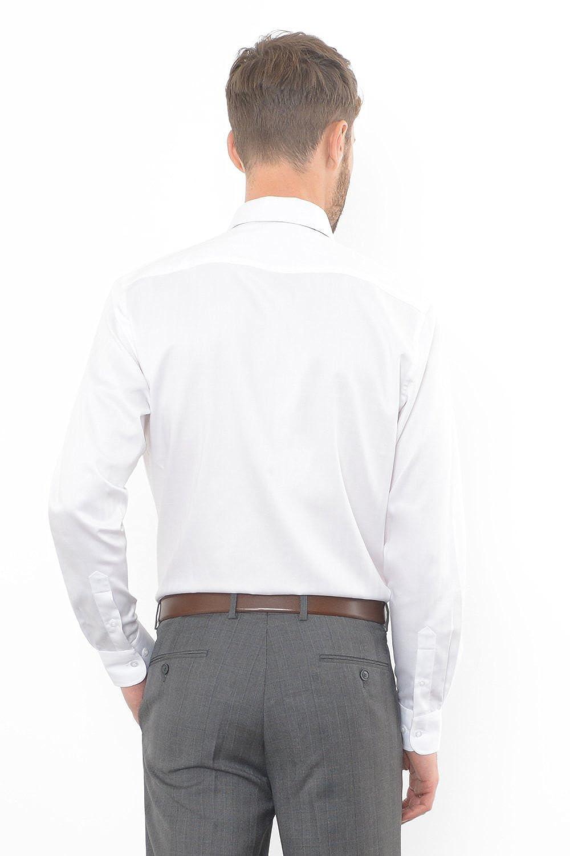 32//33 White Combatant Gentlemen Mens Slim Fit Dress Shirt Semi-Spread Collar 17-17 /½-32//33 17-17 /½