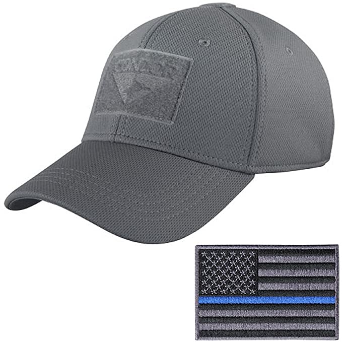 Condor Tactical Flex Cap with Thin Blue Line Morale Patch Bundle at ... 3051b9092fc