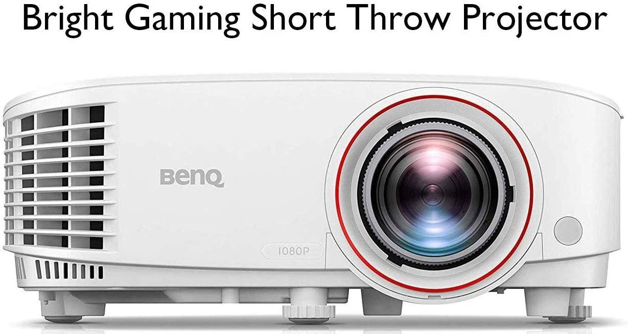 B076MHKTFH BenQ TH671ST 1080p Short Throw Projector | 3000 Lumens for Lights On Entertainment | 92% Rec. 709 for Accurate Colors | Low Input Lag Ideal for Gaming 61a-QRYXOTL