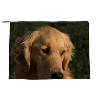 CafePress - (2) Golden Retriever Head Shot - Makeup Pouch
