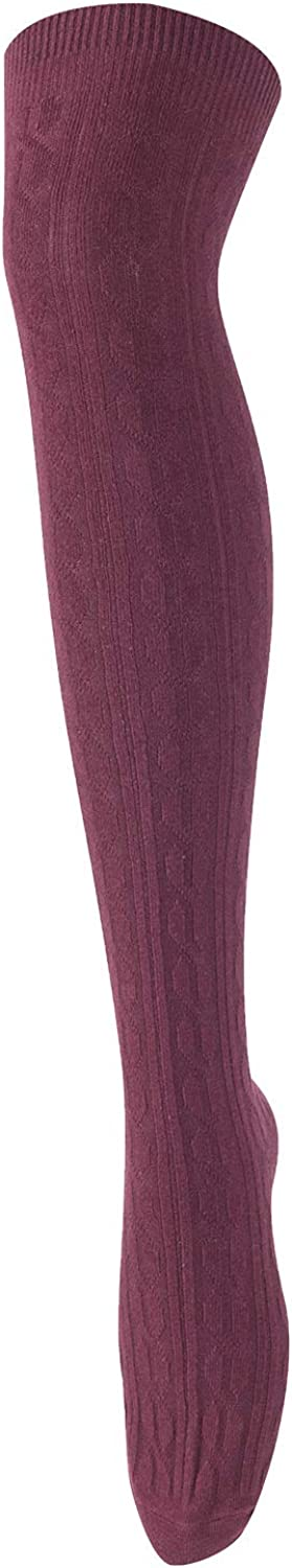 Lovely Annie Womens 4 Pairs Over Knee High Thigh High Cotton Socks JMYP1024 Size 6-9