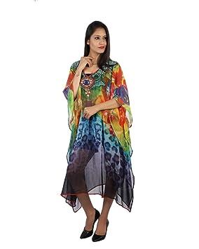 Bayside Barcelona Caftan de Las Mujeres de la Estampado de Multicolor Digital Kimono Ropa de Playa
