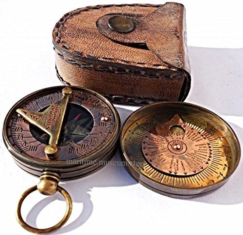 MAH Pocket Brass Sundial Compass, Both Side Work on The Bird. C-3005 by MAH