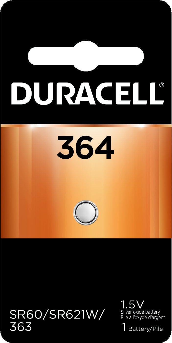 Duracell D364BPK Watch/Electronic Battery, 1.5 Volt Silver Oxide