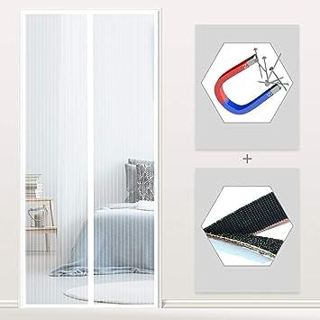 Weiß 70x190CM WISKEO Magnet Fliegengitter Tür Balkontür ...