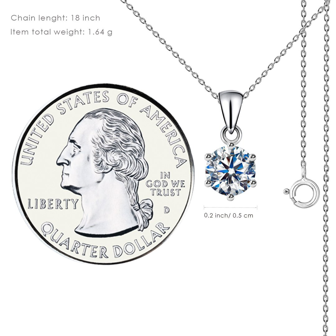 Solitaire CZ stone pendant - 300 - NEW - Child of 102617071