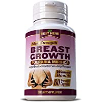 Max Strength Pueraria Mirifica 5000mg - Breast Growth, Bust Enlargement, Firm Body...