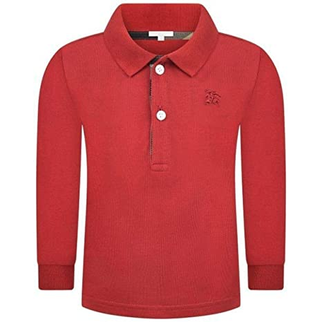 Burberry - Polo 12 meses rojo: Amazon.es: Bebé