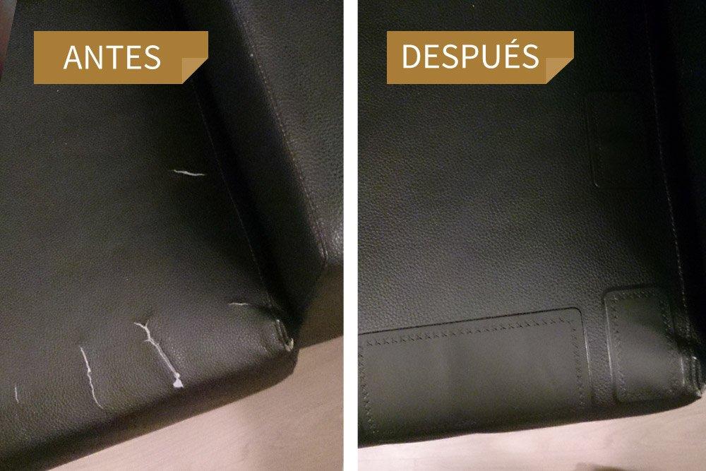 MastaPlasta Reparador Cuero, Polipiel y Skai - Parches Rectangulo Mediano (100x60mm) (Rojo)