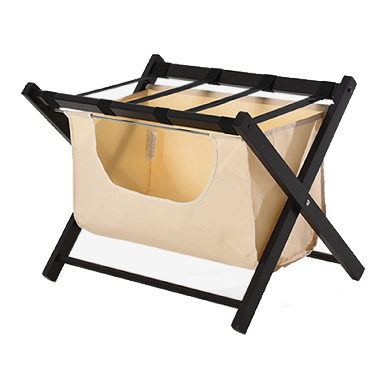 JUIANG Solid Wood Luggage Rack Hotel Restaurant Storage Rack Guest Room Home Made Multifunctional Bedroom Folded Dirty Clothes Storage Rack