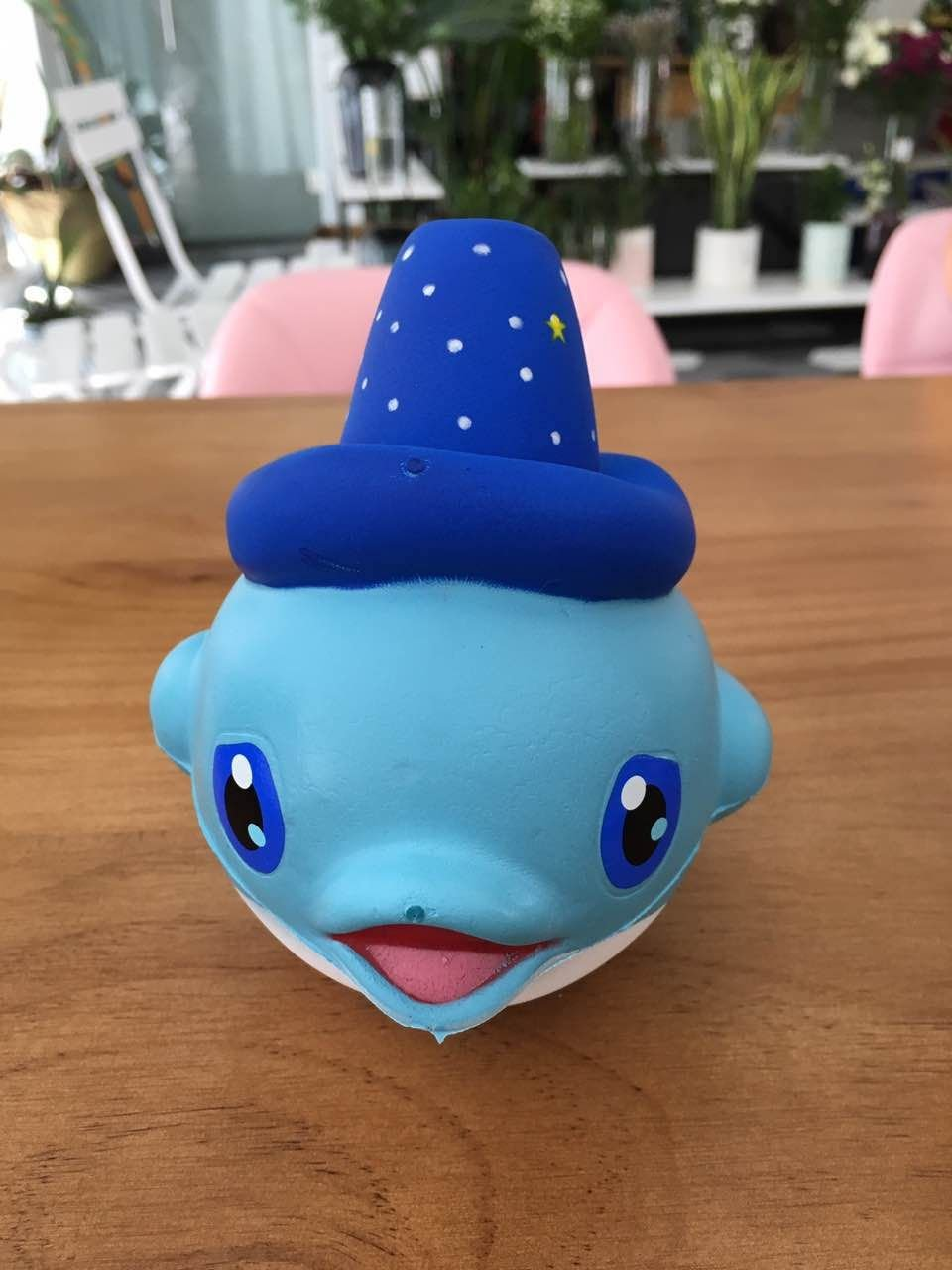 LaliLaco Cute Blue Dolphin Toy Squishy Slow Rising Stress Relief Adults Children NaTing