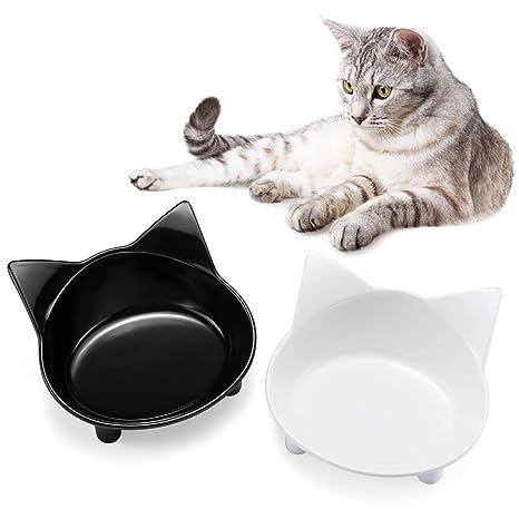LANGING - Cuenco para Comida de Gato, diseño de Gato: Amazon.es ...