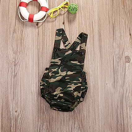 Newborn Baby Boy Girl Camouflage Romper Bodysuit Jumpsuit Sunsuit Outfit Clothes